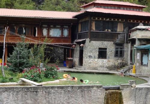 Heiße Quelle bei Zhongdian