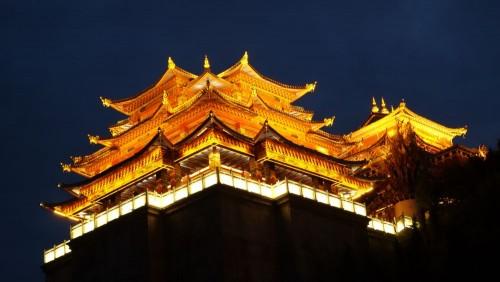 Zhongdian am Abend